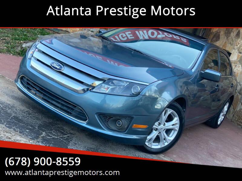 2012 Ford Fusion for sale at Atlanta Prestige Motors in Decatur GA