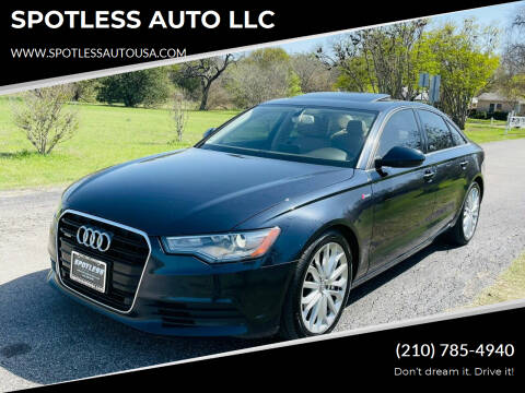 2013 Audi A6 for sale at SPOTLESS AUTO LLC in San Antonio TX