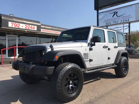 2010 Jeep Wrangler Unlimited for sale at NORRIS AUTO SALES in Oklahoma City OK