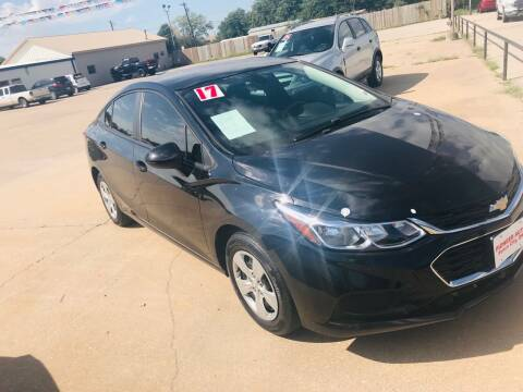 2017 Chevrolet Cruze for sale at Pioneer Auto in Ponca City OK
