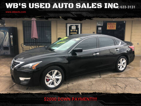 2013 Nissan Altima for sale at WB'S USED AUTO SALES INC in Houston TX