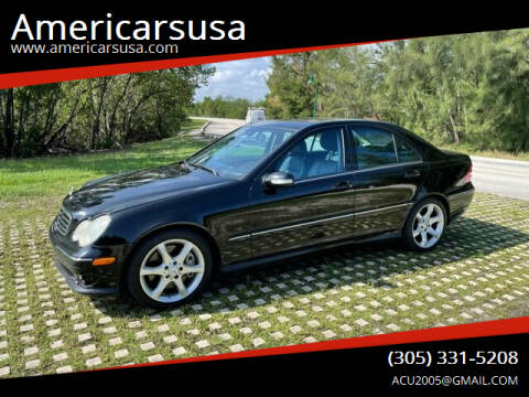 2007 Mercedes-Benz C-Class for sale at Americarsusa in Hollywood FL