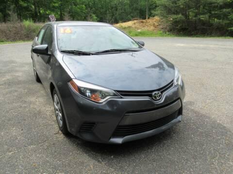 2016 Toyota Corolla for sale at 4Auto Sales, Inc. in Fredericksburg VA
