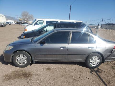 2005 Honda Civic for sale at PYRAMID MOTORS - Fountain Lot in Fountain CO