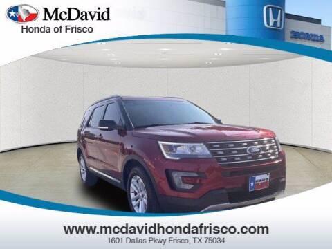 2017 Ford Explorer for sale at DAVID McDAVID HONDA OF IRVING in Irving TX