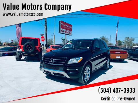 2015 Mercedes-Benz M-Class for sale at Value Motors Company in Marrero LA
