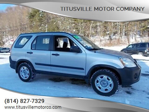 2006 Honda CR-V for sale at Titusville Motor Company in Titusville PA