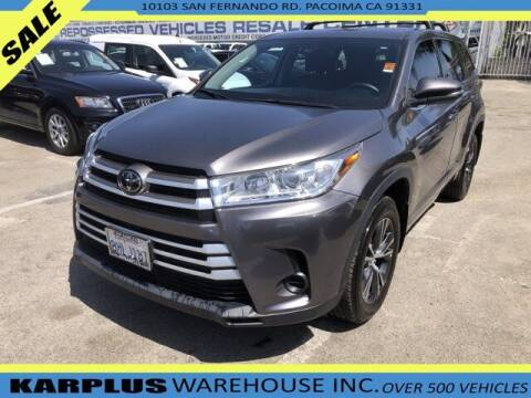 2018 Toyota Highlander for sale at Karplus Warehouse in Pacoima CA