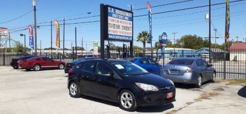 2013 Ford Focus for sale at S.A. BROADWAY MOTORS INC in San Antonio TX