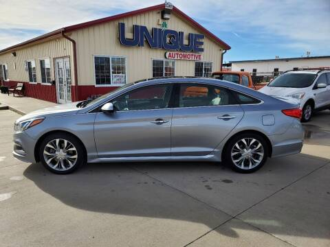 """2015 Hyundai Sonata for sale at UNIQUE AUTOMOTIVE """"BE UNIQUE"""" in Garden City KS"""