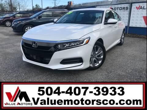 2020 Honda Accord for sale at Value Motors Company in Marrero LA