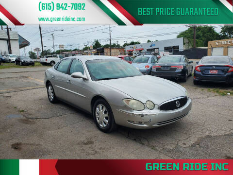 2006 Buick LaCrosse for sale at Green Ride Inc in Nashville TN