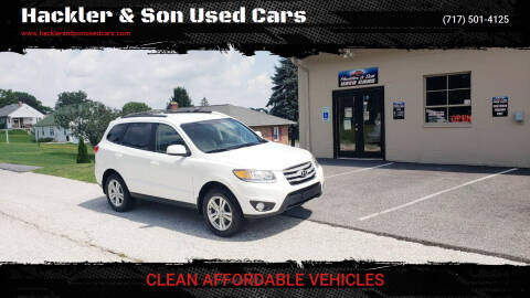 2012 Hyundai Santa Fe for sale at Hackler & Son Used Cars in Red Lion PA