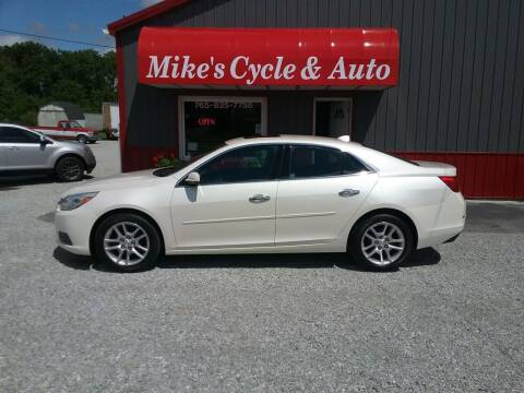 2014 Chevrolet Malibu for sale at MIKE'S CYCLE & AUTO in Connersville IN