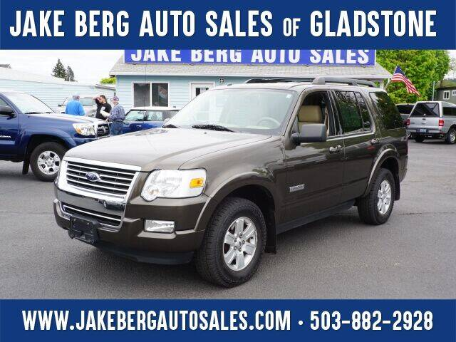 2008 Ford Explorer for sale at Jake Berg Auto Sales in Gladstone OR