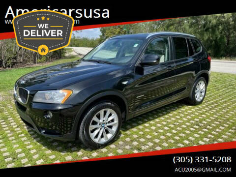 2013 BMW X3 for sale at Americarsusa in Hollywood FL