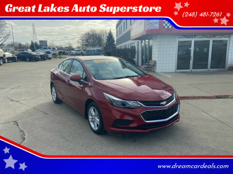 2017 Chevrolet Cruze for sale at Great Lakes Auto Superstore in Pontiac MI