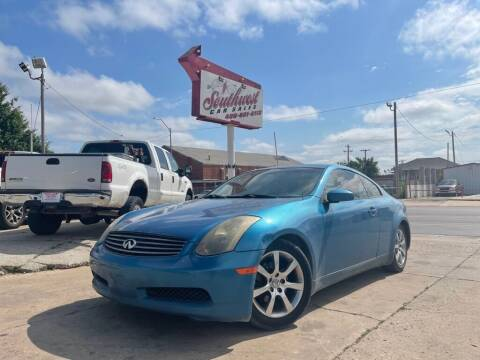 2004 Infiniti G35 for sale at Southwest Car Sales in Oklahoma City OK