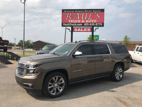 2016 Chevrolet Suburban for sale at RAUL'S TRUCK & AUTO SALES, INC in Oklahoma City OK