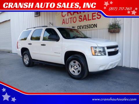 2007 Chevrolet Tahoe for sale at CRANSH AUTO SALES, INC in Arlington TX