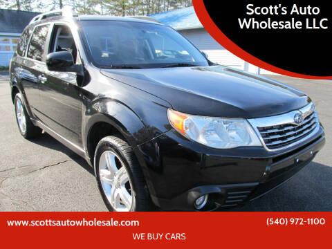 2010 Subaru Forester for sale at Scott's Auto Wholesale LLC in Locust Grove VA