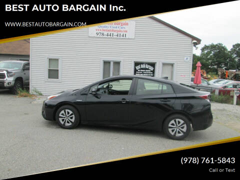 2018 Toyota Prius for sale at BEST AUTO BARGAIN inc. in Lowell MA