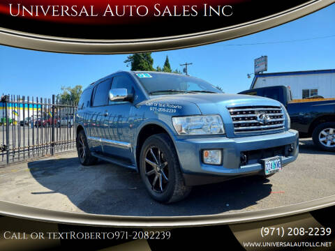 2008 Infiniti QX56 for sale at Universal Auto Sales Inc in Salem OR