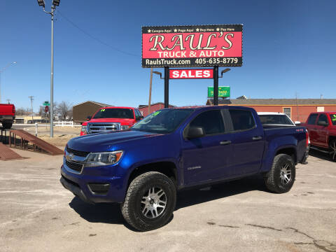 2016 Chevrolet Colorado for sale at RAUL'S TRUCK & AUTO SALES, INC in Oklahoma City OK