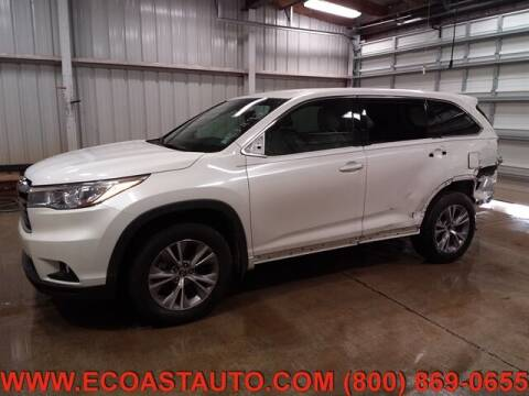 2016 Toyota Highlander for sale at East Coast Auto Source Inc. in Bedford VA