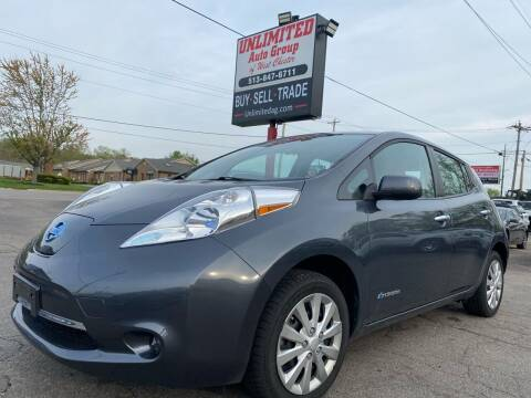 2013 Nissan LEAF for sale at Unlimited Auto Group in West Chester OH