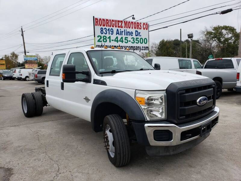 2011 Ford F-550 for sale at RODRIGUEZ MOTORS CO. in Houston TX