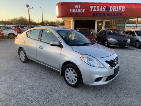 2014 Nissan Versa for sale at Texas Drive LLC in Garland TX