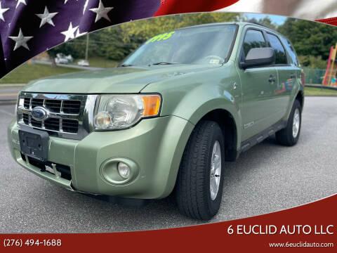 2008 Ford Escape Hybrid for sale at 6 Euclid Auto LLC in Bristol VA
