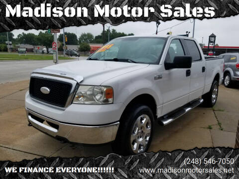 2006 Ford F-150 for sale at Madison Motor Sales in Madison Heights MI