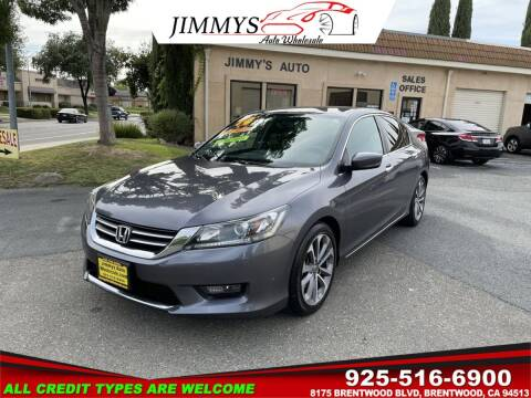 2014 Honda Accord for sale at JIMMY'S AUTO WHOLESALE in Brentwood CA