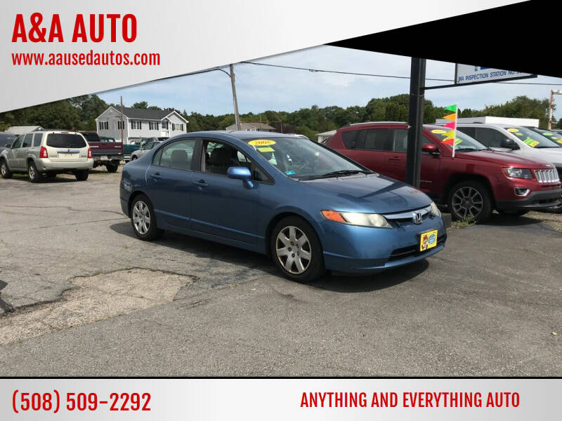 2008 Honda Civic for sale at A&A AUTO in Fairhaven MA
