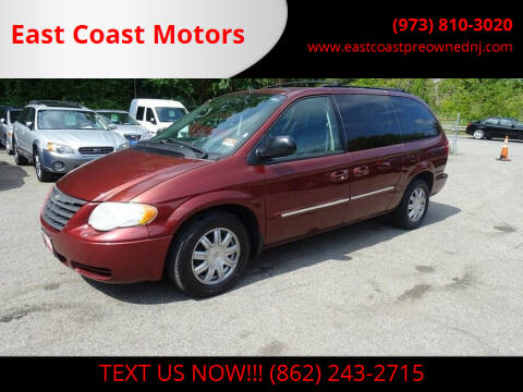 2007 Chrysler Town and Country for sale at East Coast Motors in Lake Hopatcong NJ