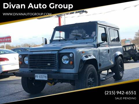 1987 Land Rover Defender for sale at Divan Auto Group in Feasterville PA