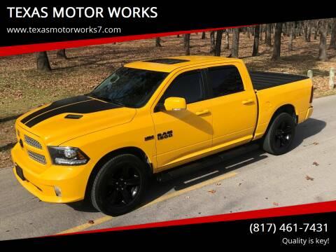 2016 RAM Ram Pickup 1500 for sale at TEXAS MOTOR WORKS in Arlington TX