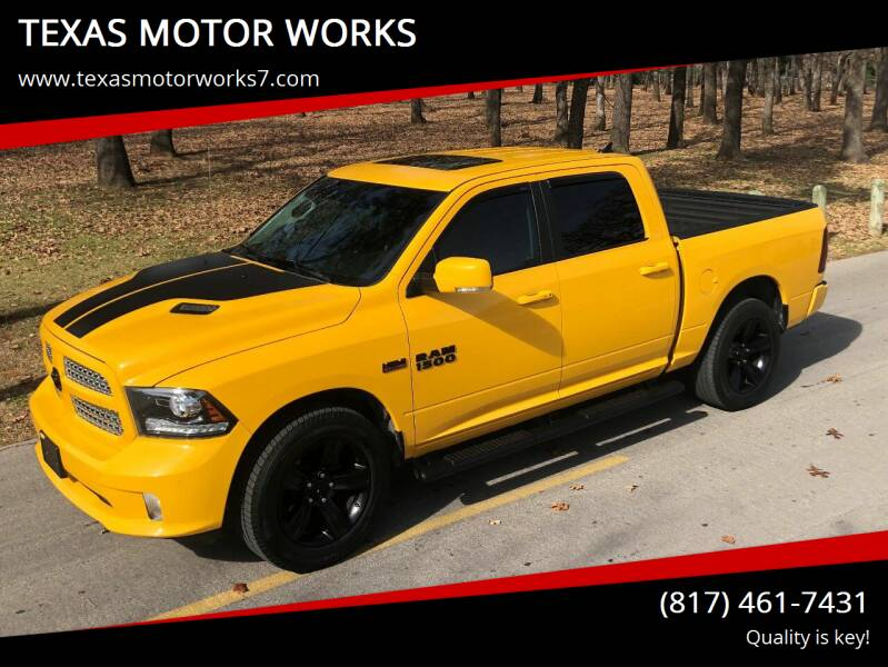 2016 RAM Ram Pickup 1500 for sale at TEXAS MOTOR WORKS in Arlington TX