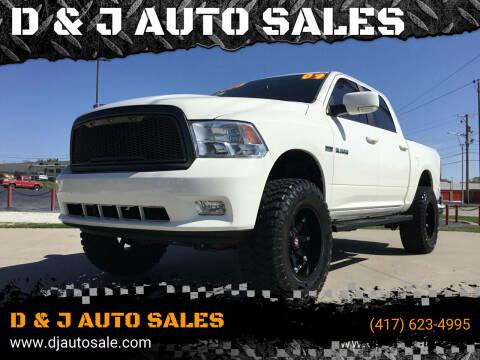 2009 Dodge Ram Pickup 1500 for sale at D & J AUTO SALES in Joplin MO