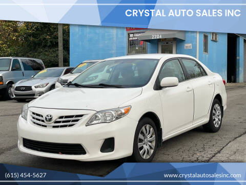 2013 Toyota Corolla for sale at Crystal Auto Sales Inc in Nashville TN