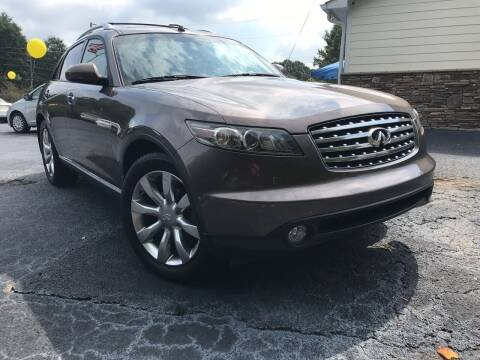 2007 Infiniti FX35 for sale at No Full Coverage Auto Sales in Austell GA