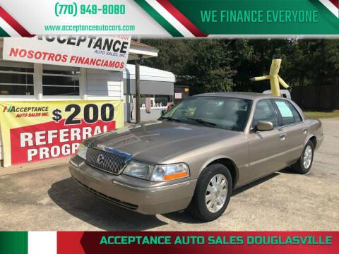 2003 Mercury Grand Marquis for sale at Acceptance Auto Sales Douglasville in Douglasville GA