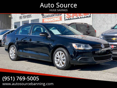 2014 Volkswagen Jetta for sale at Auto Source in Banning CA