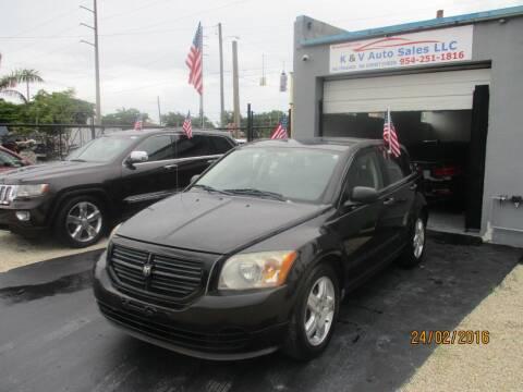 2008 Dodge Caliber for sale at K & V AUTO SALES LLC in Hollywood FL