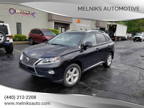 2013 Lexus RX 350 for sale at Melniks Automotive in Berea OH