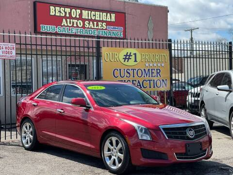2013 Cadillac ATS for sale at Best of Michigan Auto Sales in Detroit MI