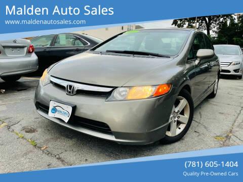 2007 Honda Civic for sale at Malden Auto Sales in Malden MA
