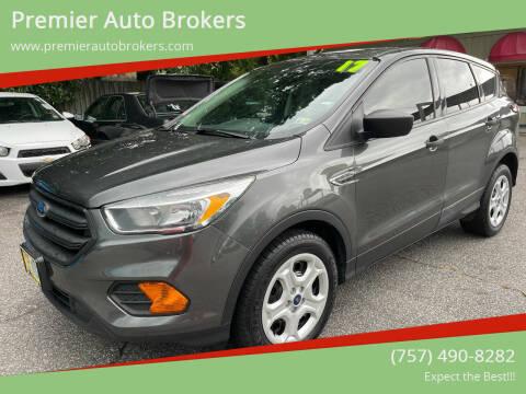 2017 Ford Escape for sale at Premier Auto Brokers in Virginia Beach VA